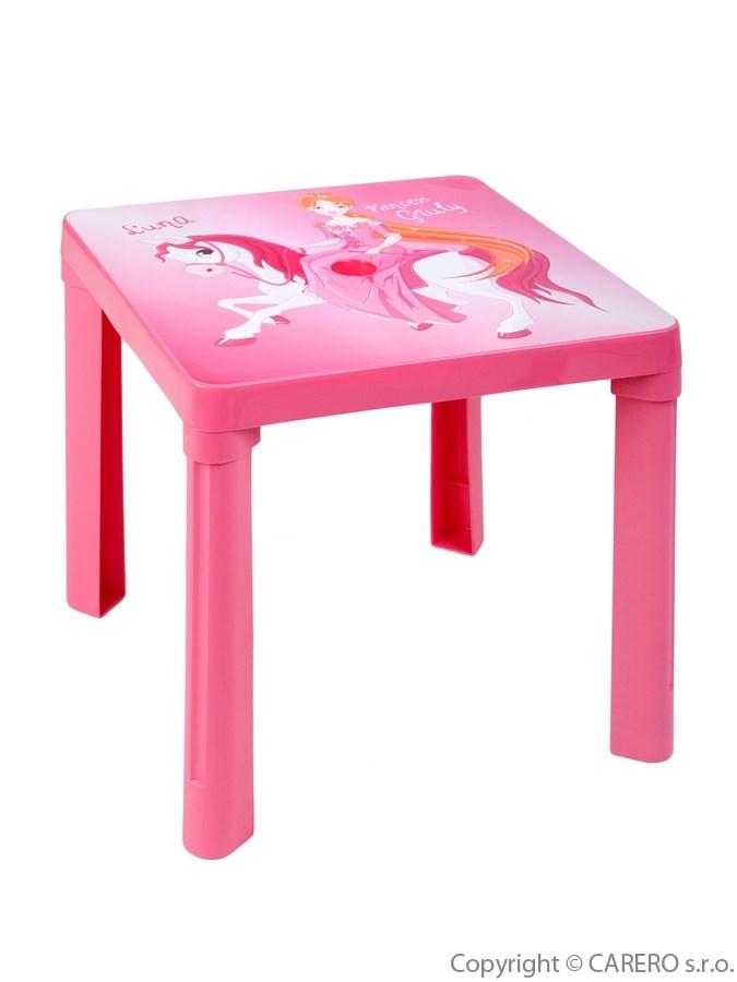 Dětský stolek plastový Luna Pink Plastový dětský stolek