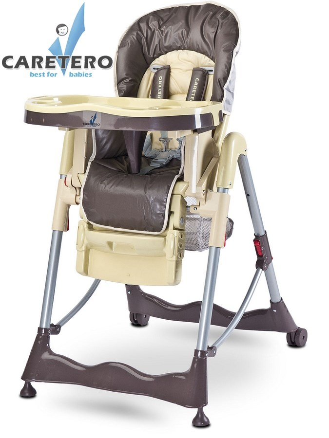 CARETERO Magnus Classic brown Skládací jídelní židlička Caretero
