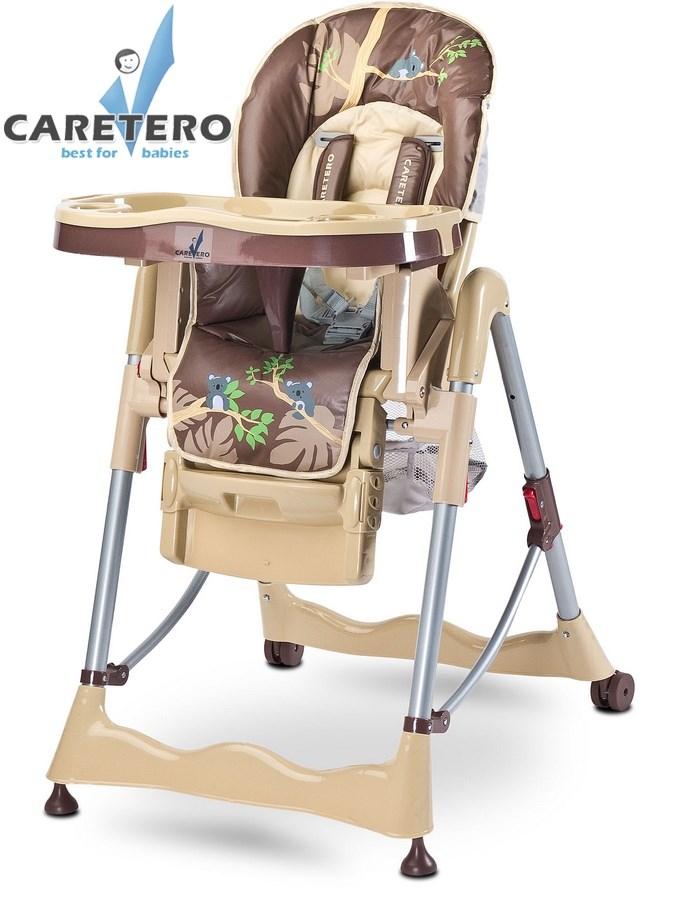 CARETERO Magnus Fun beige Skládací jídelní židlička Caretero