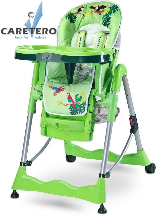 CARETERO Magnus Fun green Skládací jídelní židlička Caretero
