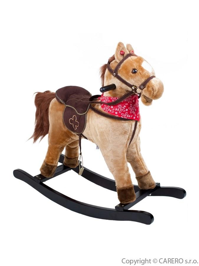 Houpací kůň Bayo Rocky béžový Plyšový houpací koník se zvuky a pohyby