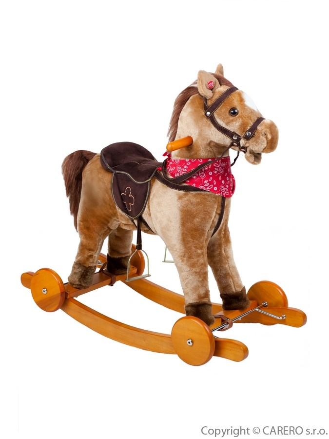 Houpací kůň Bayo Endy béžový Plyšový houpací koník se zvuky a pohyby