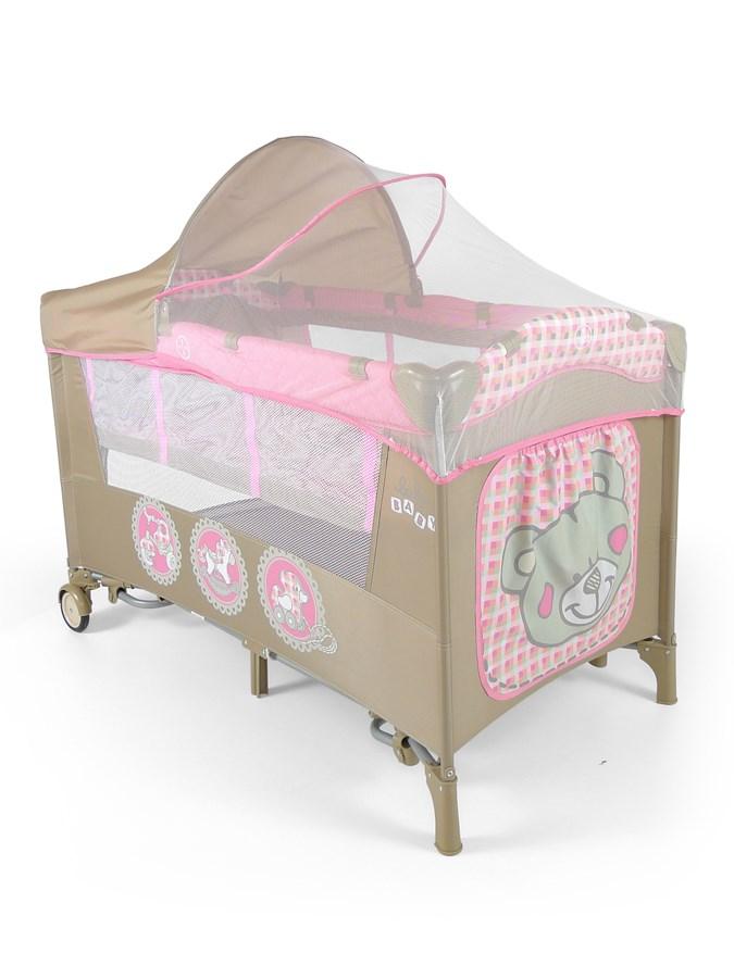 Cestovní postýlka Mirage Deluxe pink toys Dětská postýlka skládací Milly Mally