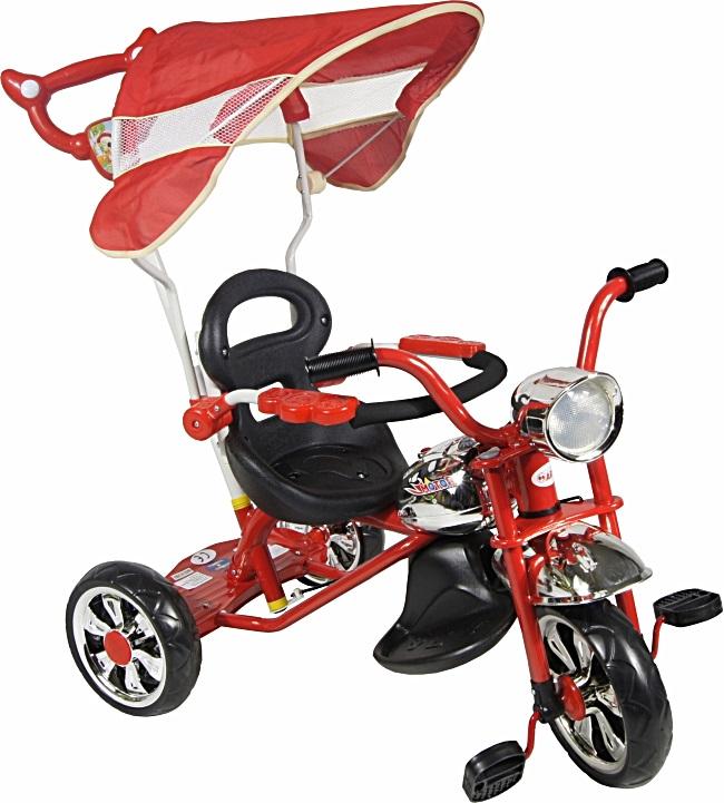 tříkolka ARTI Moto Classic W-11 red Dětská tříkolka s vodící tyčí a stříškou