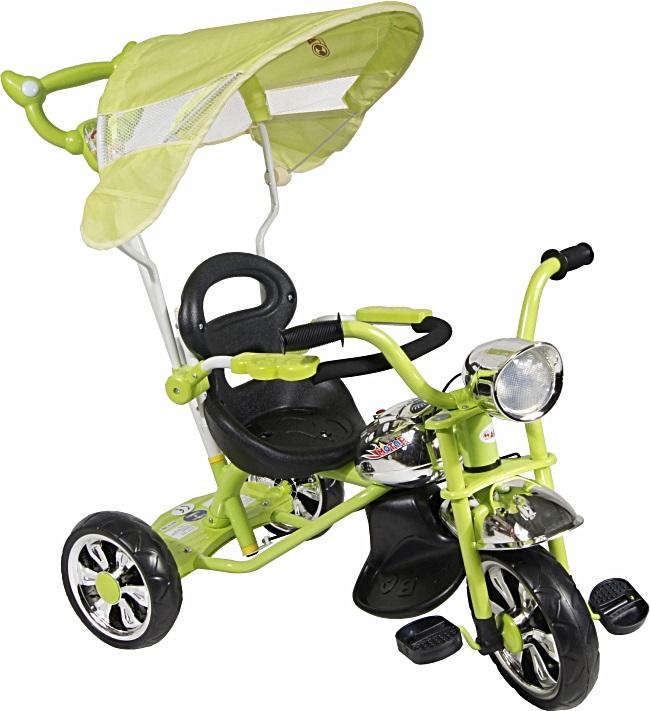 tříkolka ARTI Moto Classic W-11 green Dětská tříkolka s vodící tyčí a stříškou