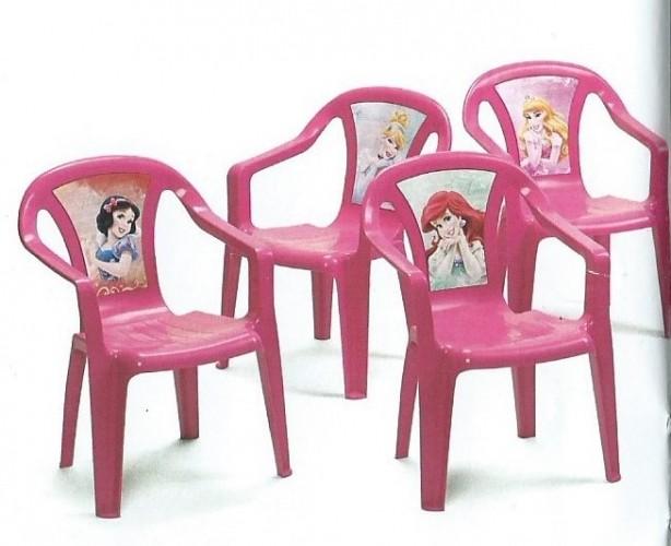 Dětská židlička plastová - Princess Dětská plastová židlička Disney
