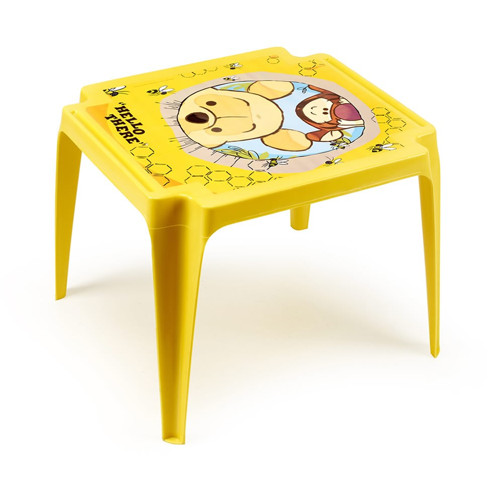 Dětský stolek plastový - Pooh žlutý Plastový dětský stolek Disney