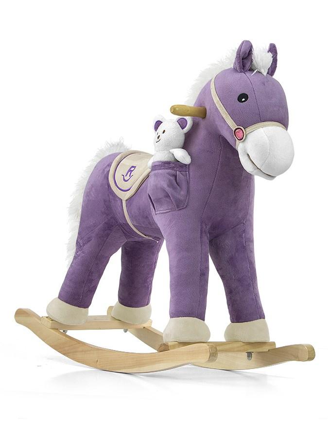 Houpací kůň Milly Mally Pony fialový Látkový houpací koník se zvuky a pohyby