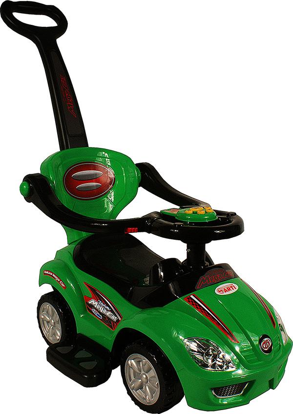 Odrážedlo ARTI 382 Mega Car Deluxe music green Odrážedlo 3v1 s vodící tyčí