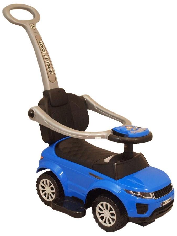 Odrážedlo Baby Mix SportCar 3v1 modré Odrážedlo s vodící tyčí Baby Mix hrající