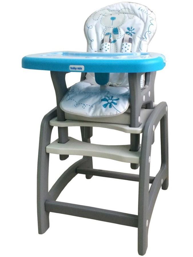 Jídelní židlička Baby Mix 2v1 modrá Dětská jídelní židlička rozkládací