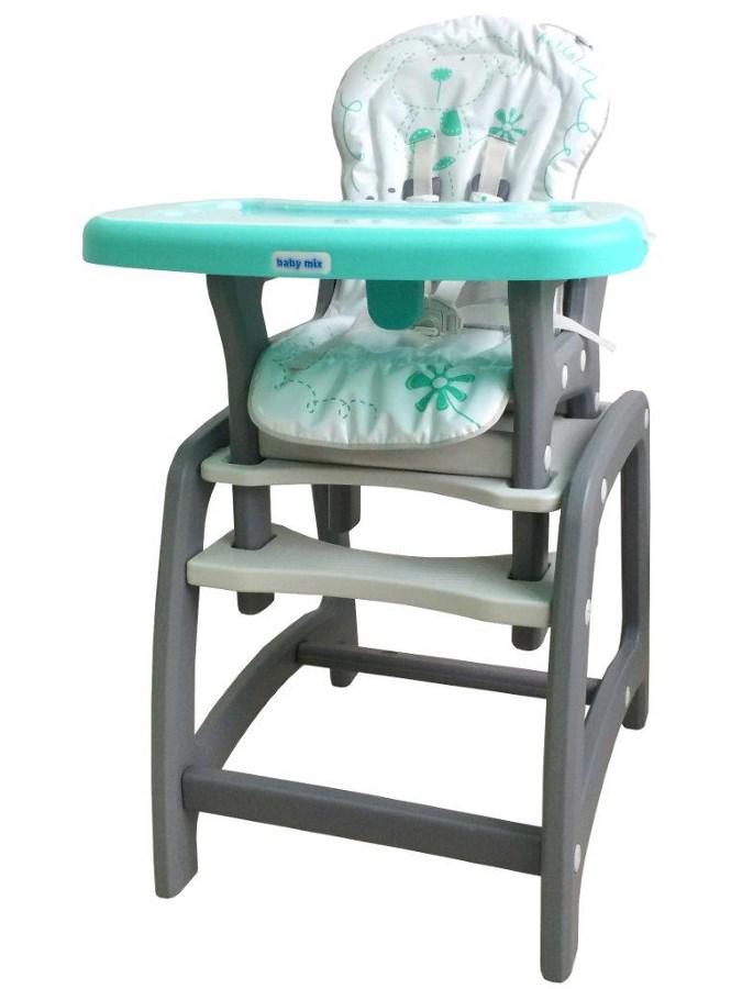 Jídelní židlička Baby Mix 2v1 zelená Dětská jídelní židlička rozkládací