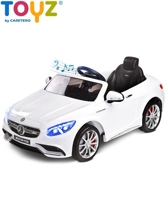Elektrické auto TOYZ Mercedes-Benz S63 AMG white Elektrické autíčko pro 1 dítě s dálkovým ovládáním