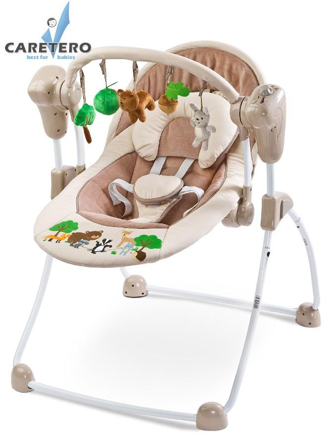 Dětské houpací lehátko CARETERO Forest beige Houpací lehátko pro kojence