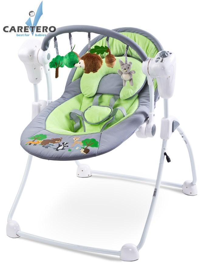 Dětské houpací lehátko CARETERO Forest green Houpací lehátko pro kojence