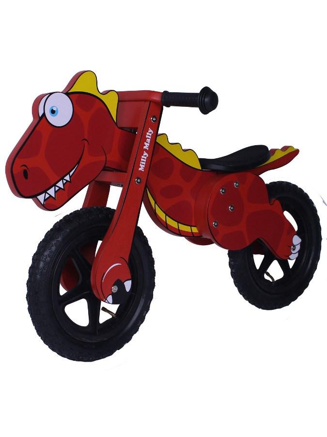 Odrážedlo kolo dřevěné Milly Mally Dino red Dětské odrážedlo Milly Mally
