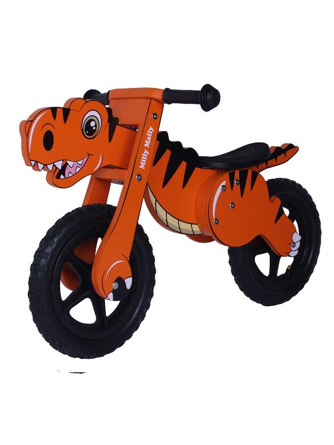 Odrážedlo kolo dřevěné Milly Mally Dino orange Dětské odrážedlo Milly Mally