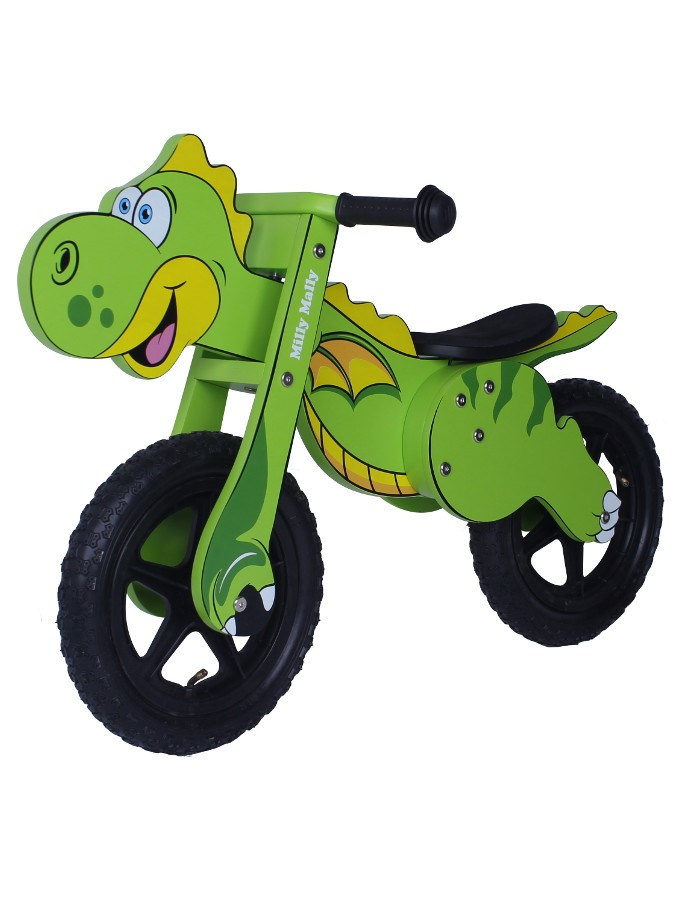 Odrážedlo kolo dřevěné Milly Mally Dino green Dětské odrážedlo Milly Mally