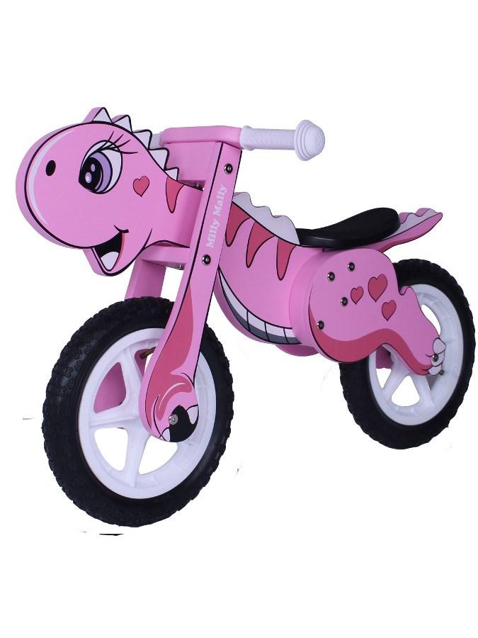Odrážedlo kolo dřevěné Milly Mally Dino pink Dětské odrážedlo Milly Mally