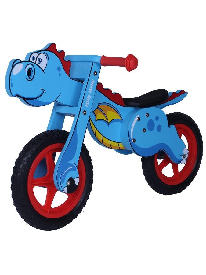Odrážedlo kolo dřevěné Milly Mally Dino blue Dětské odrážedlo Milly Mally