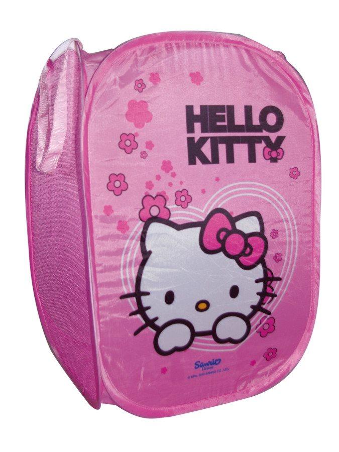 Koš na hračky skládací Hello Kitty Skládací koš na hračky látkový