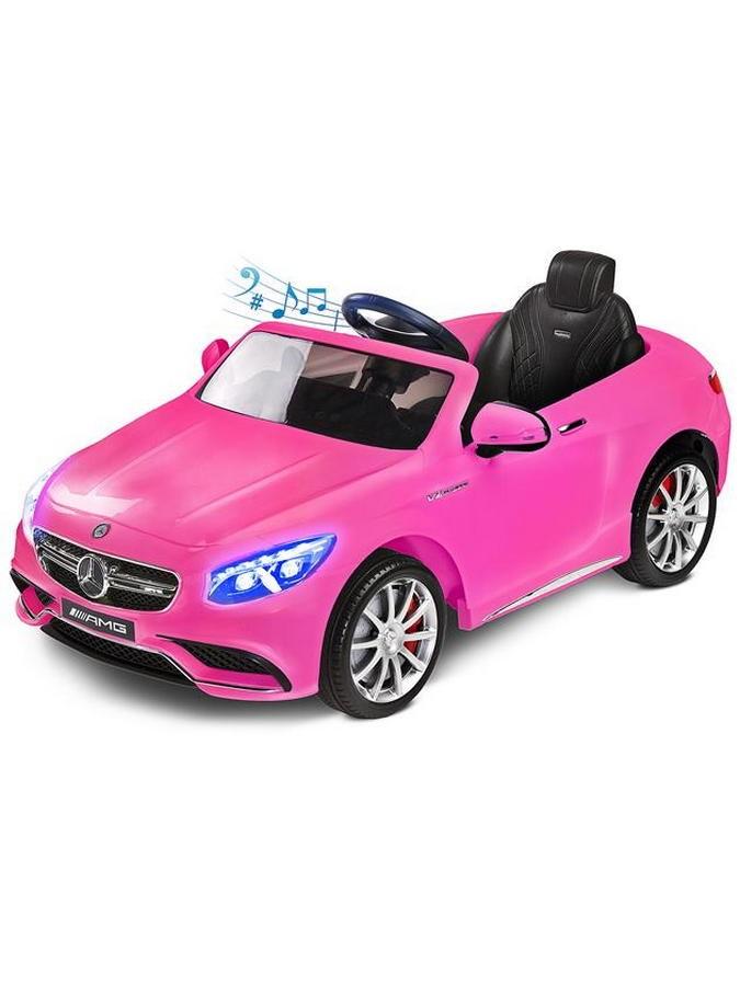 Elektrické auto TOYZ Mercedes-Benz S63 AMG pink Elektrické autíčko pro 1 dítě s dálkovým ovládáním