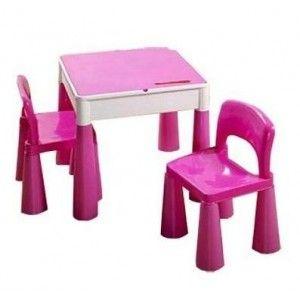 Dětská sestava MAMUT pink Dětský stolek a 2 židličky