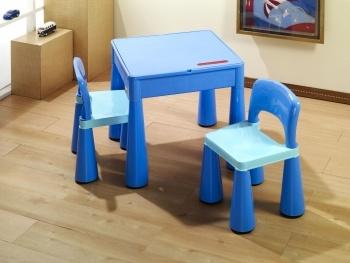 Dětská sestava MAMUT blue Dětský stolek a 2 židličky
