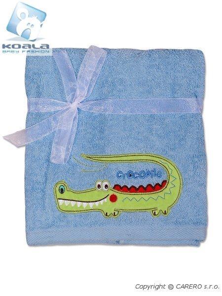 Dětský ručník Koala modrý Froté dětský ručník 50x100 cm, s vyšitým obrázkem