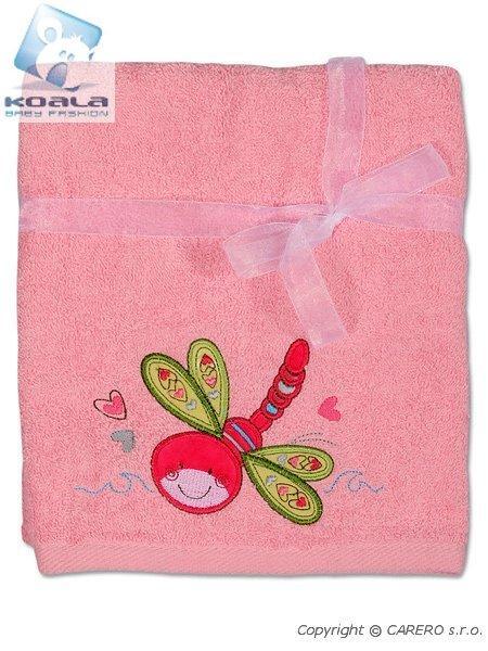 Dětský ručník Koala růžový Froté dětský ručník 50x100 cm, s vyšitým obrázkem