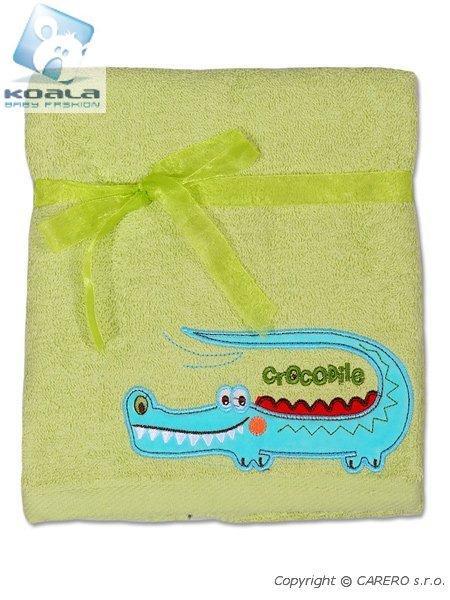 Dětský ručník Koala zelený Froté dětský ručník 50x100 cm, s vyšitým obrázkem