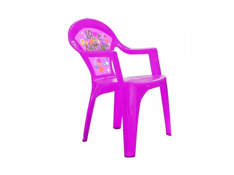 Dětská židlička - plastová - BARBIE