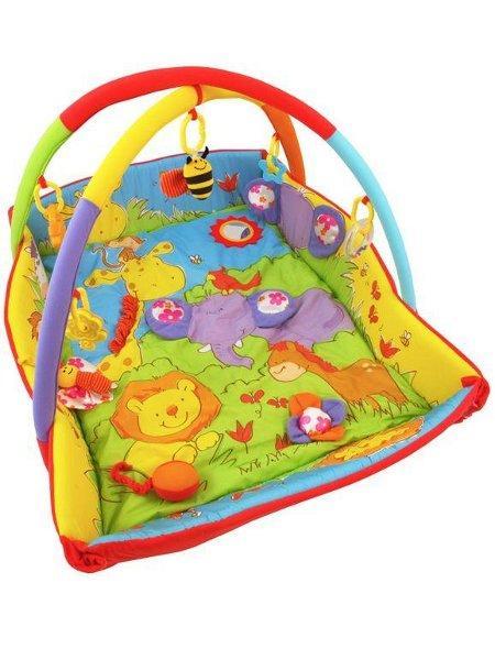 Hrací deka Baby Mix ZOO Hrací deka s hrazdou a bočnicemi