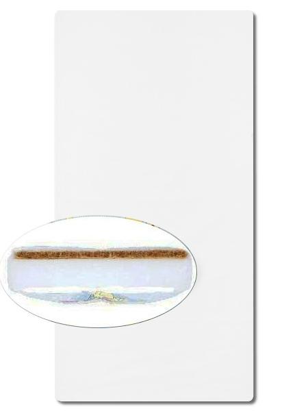 Matrace do postýlky Danpol molitan-kokos velká bílá Pěnová matrace s vrstvou kokosového vlákna, sundávací obal