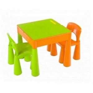 Dětská sestava MAMUT orange Dětský stolek a 2 židličky