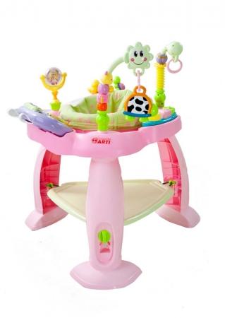 Edukační stolek skákací Arti pink Skákadlo, stolek s funkcemi