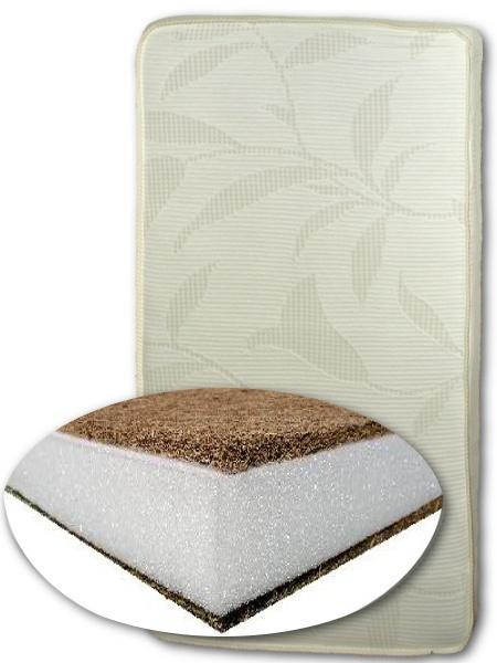 Matrace do postýlky KMK SUPERLUX Pěnová matrace s vrstvou kokosového vlákna