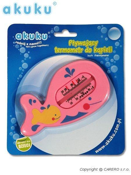 Teploměr dětský rybka Pink Teploměr do vany rybka