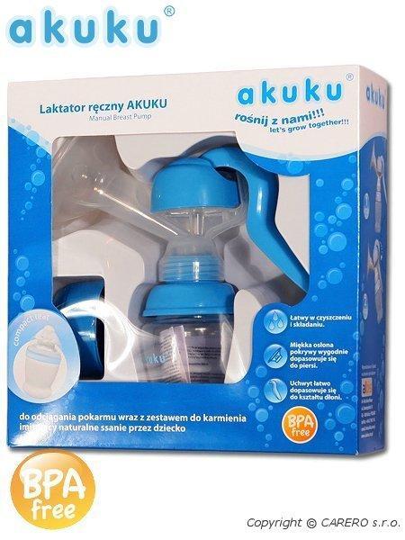 Odsávačka mléka ruční AKUKU blue Ruční odsávačka mléka se zásobníkem