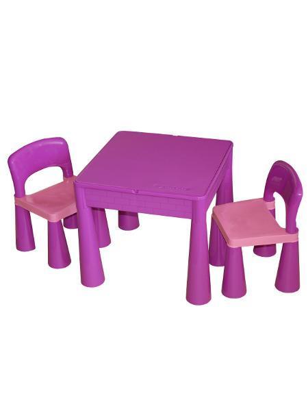 Dětská sestava MAMUT fialová Dětský stolek a 2 židličky
