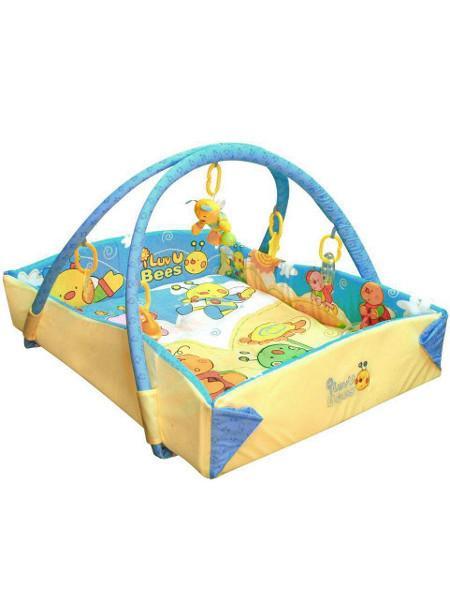 Hrací deka Včelky Hrací deka s hrazdičkou a hračkami