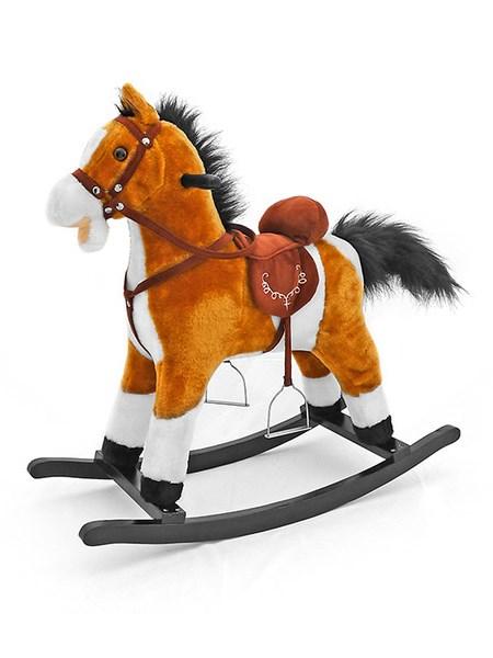 Houpací kůň Milly Mally Mustang světle hnědý Plyšový houpací koník se zvuky a pohyby