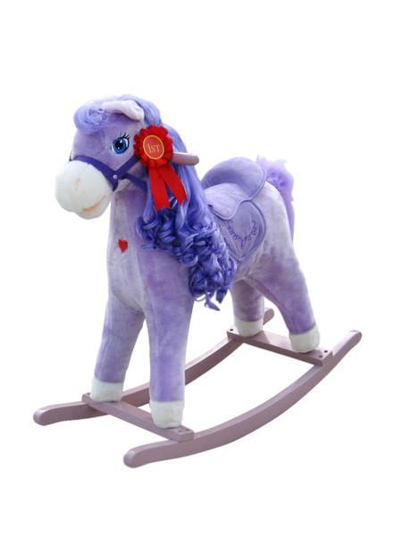 Houpací kůň Milly Mally Princess violet Plyšový houpací koník se zvuky a pohyby