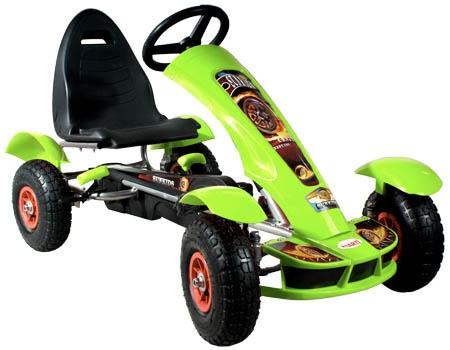 Šlapací auto Formule sport green