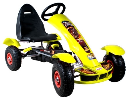 Šlapací auto Formule sport yellow