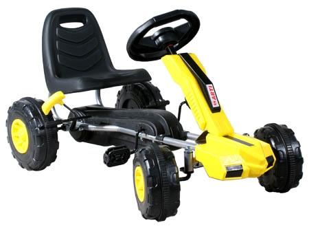 Šlapací auto ARTI Buggy XT yellow Šlapací kára pro děti