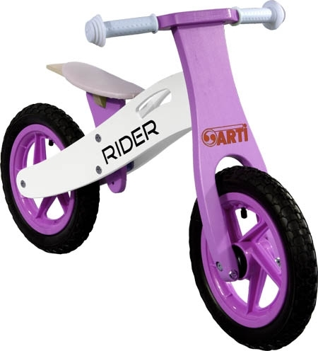Odrážedlo kolo ARTI Rider Plus purple Light Odrážecí kolo dřevěné Arti Rider