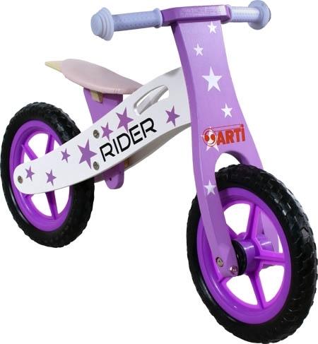 Odrážedlo kolo ARTI Rider Star Purple Dark Odrážecí kolo dřevěné Arti Rider
