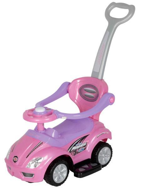 Odrážedlo 3v1 Baby Mix 381 pink Odrážedlo s vodící tyčí