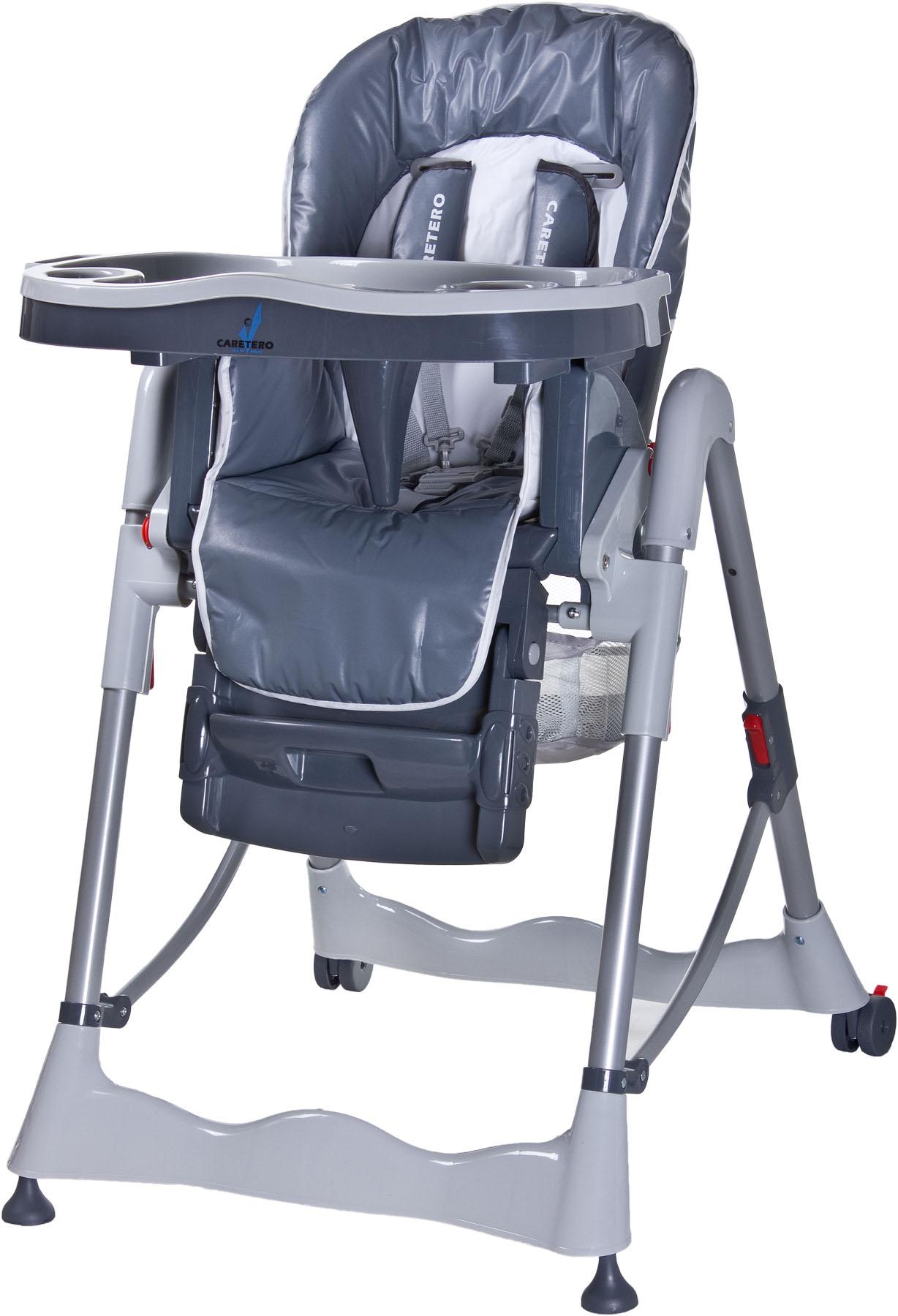 Jídelní židlička Caretero MAGNUS classic grey Skládací jídelní židlička Caretero